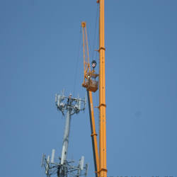 new tech construction tower erection