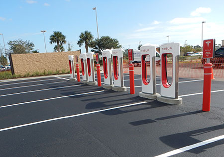 ntc towers tesla charging stations