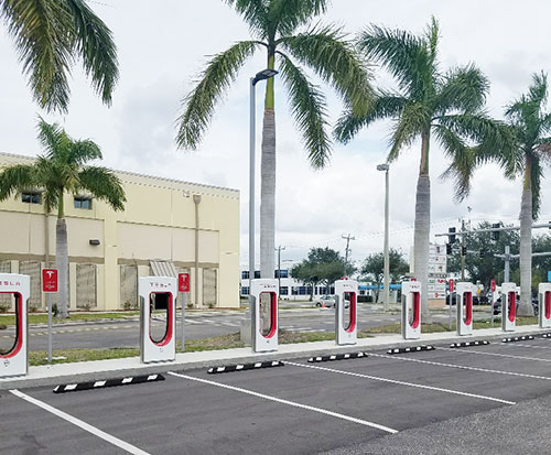 new tech tesla supercharger station sarasota